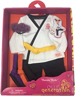 Our Generation Karate Kicks Martial Arts Outfit 18 Doll Clothes