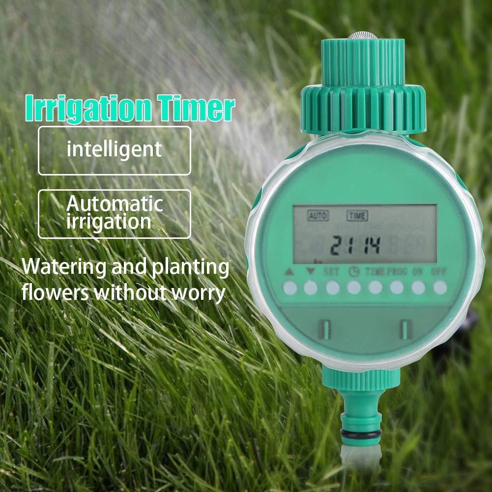 GOTOTP Temporizador de riego de Automatico de Inteligente con Pantalla LCD,Alimentado por Batería,Programador de riego para Jardín, césped, balcón, Patio: Amazon.es: Hogar