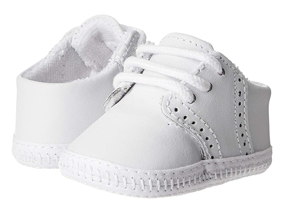 Baby Deer Leather Saddle Oxford Wiggle (Infant) (White) Boys Shoes
