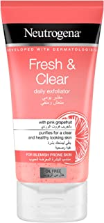 Neutrogena, Fresh & Clear Daily Exfoliator, Pink Grapefruit & Vitamin C, Blemish prone skin, 150ml