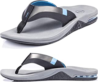 Men's Sport Flip Flops, Arch Support Thong Sandals with...