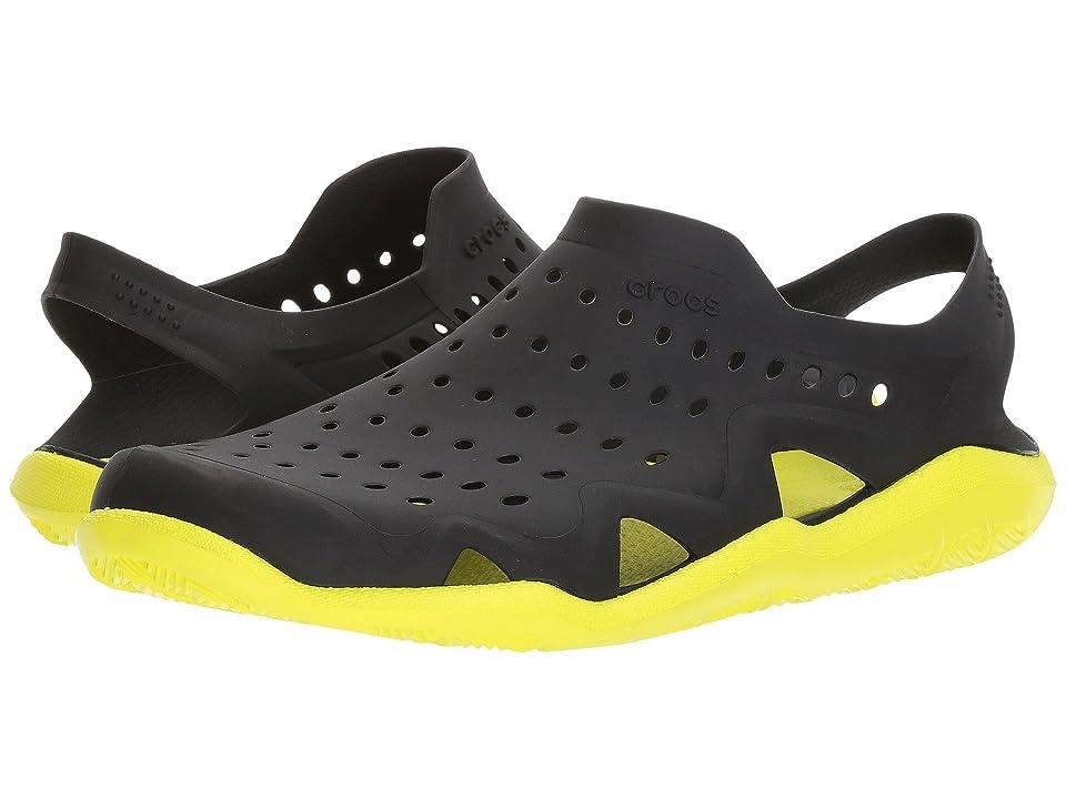 Crocs Swiftwater Wave (Black/Tennis Ball Green) Men