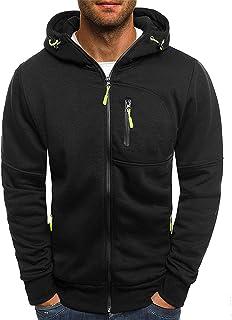 Dasongff - Sudadera con capucha para hombre, con cremallera, manga larga, estilo deportivo, informal, fitness, entrenamien...