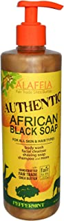 Alaffia Authentic African Black Soap All-in-One, Peppermint, 16 Oz. Body Wash, Facial Cleanser, Shampoo, Shaving, Hand Soa...