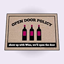 product image for High Cotton Doormat, Open Policy Wine