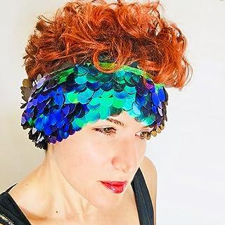 Sirena iridiscente pañuelo - Millie Bobby Brown pañuelo Coachella - Bufanda boho - Chal mujer - Festival ropa Boho - Regal...