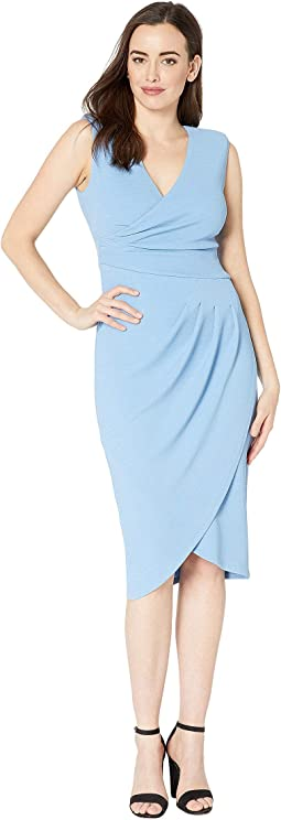 Rio Knit Draped V-Neck Sheath