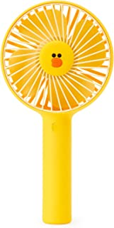 Line Friends Portable Fan - Sally Character Mini Handheld Personal Fan, 3-Speed Adjustable and USB Rechargeable Battery Operated