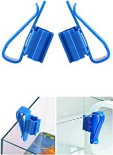 2Pcs Multifunction Plastic Adjustable Fish Tank Mounting Clip Water Pipe Tube Clamp Hose Holder