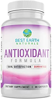 Antioxidant Health Formula by Best Earth Naturals - Super Powerful Antioxidants with Acai Fruit, Goji Berry, Noni, Mangosteen, Pomegranate, Resveratrol, Elderberry and More
