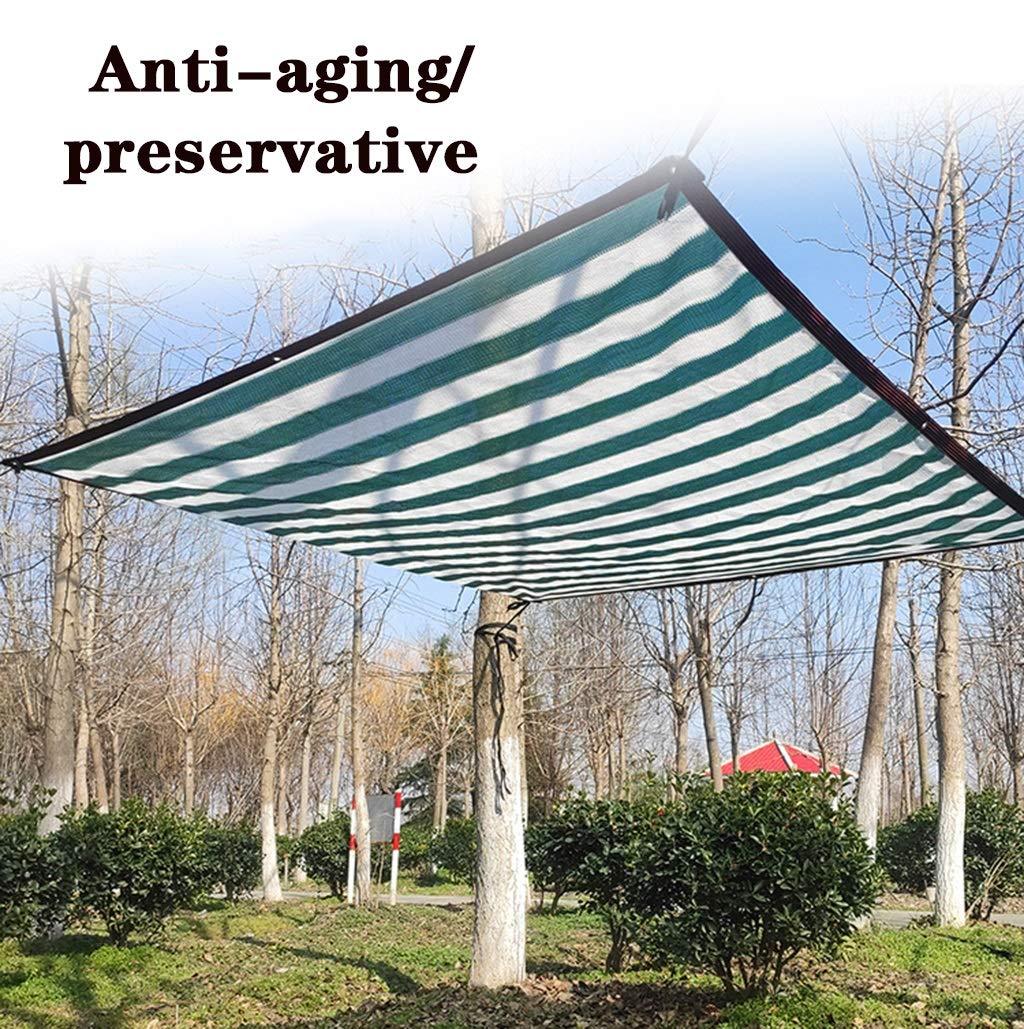 De efecto invernadero verde oscuro protector solar sombreado de malla transpirable con cinta adhesiva sol Edge Balcón Patio malla malla de sombra (4x4m, 4x5m, 4x6m, 4x8m, 5x5m) (Color : Dark green): Amazon.es: