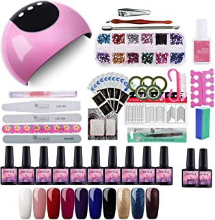 Saint-Acior 24W UV/LED Lámpara Secadora de Uñas Nail Dryer