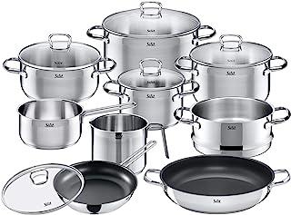 Silit Batería de Cocina 10 Piezas, Acero Inoxidable, Plata, 20 cm, Unidades