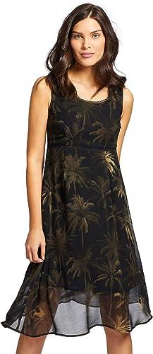 khujo Damen Kleid TULLA leichtes Sommerkleid in A-Form mit Unterkleid