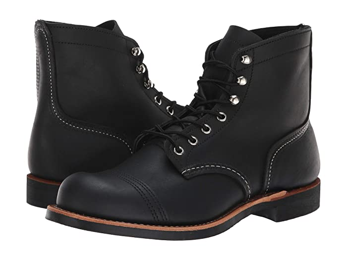 Men's Vintage Workwear Inspired Clothing 1930s Red Wing Heritage 6 Iron Ranger Lug Black Harness Mens Lace-up Boots $329.99 AT vintagedancer.com