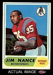 1968 Topps # 72 Jim Nance New England Patriots (Football Card) Dean`s Cards 3 - VG Patriots