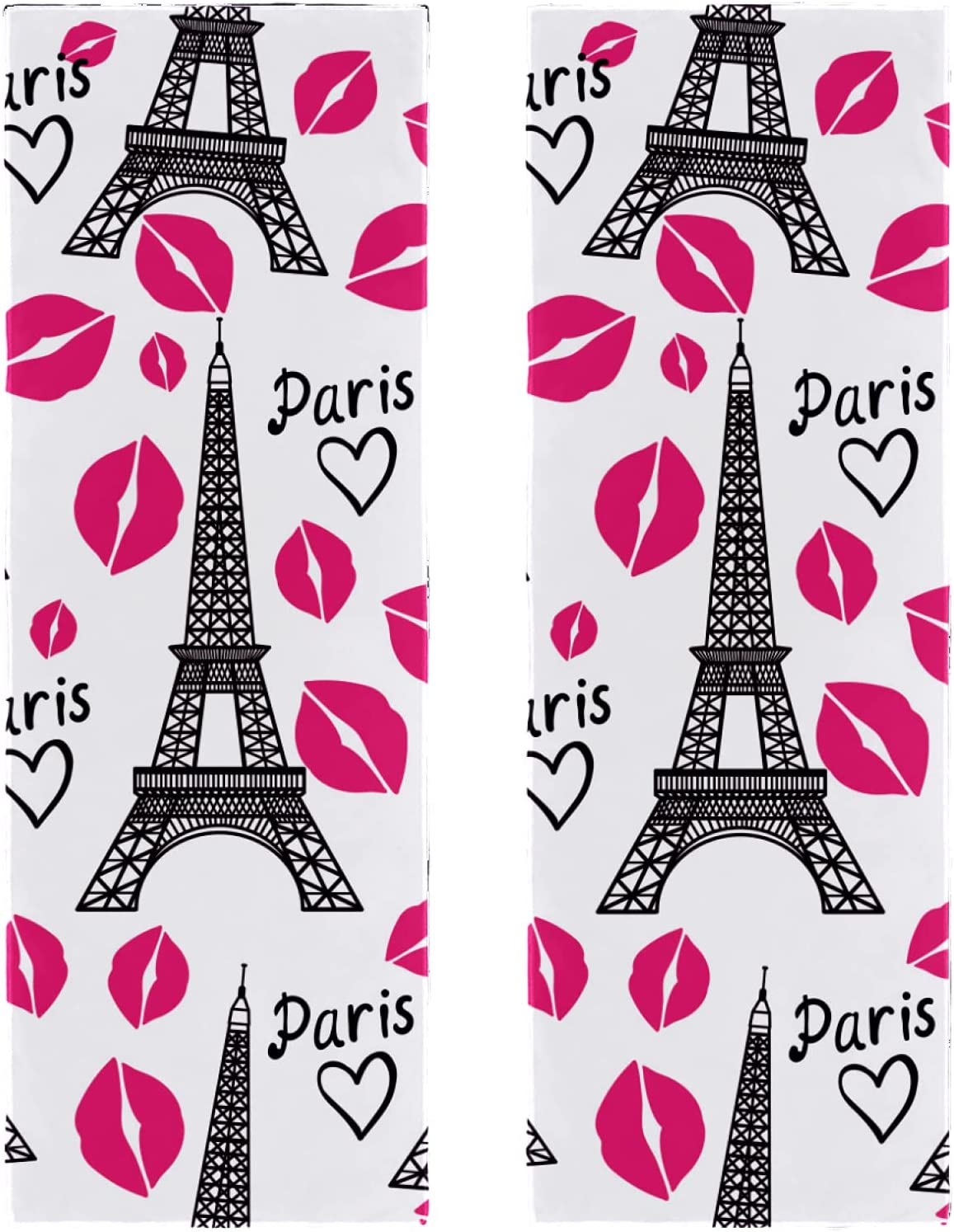 2 Packs Yoga Bombing new work Towel for Gym Eiffel Tow and Beach discount Camping Travel