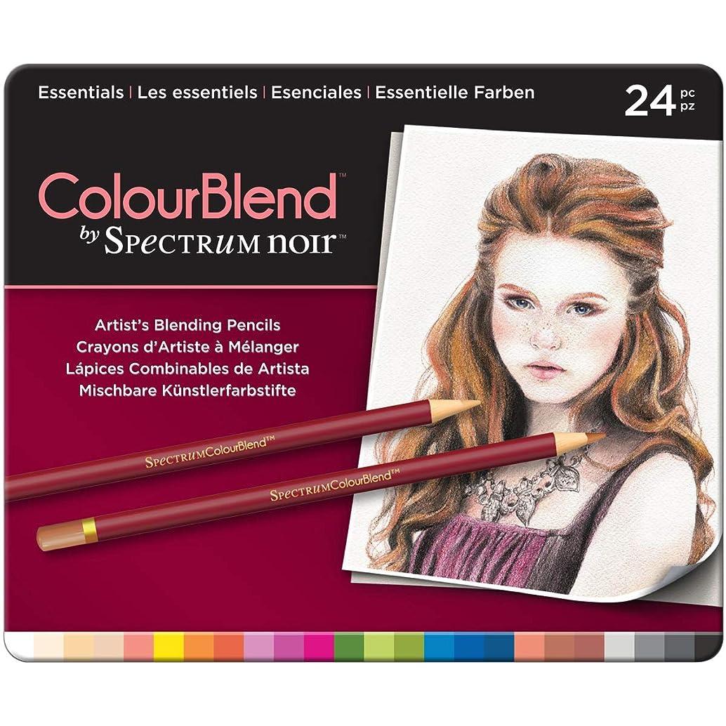 Spectrum Noir SPECCB-ESS24 24 Piece ColourBlend Premium Blendable Artists Pencils, Essentials, Pack of 24