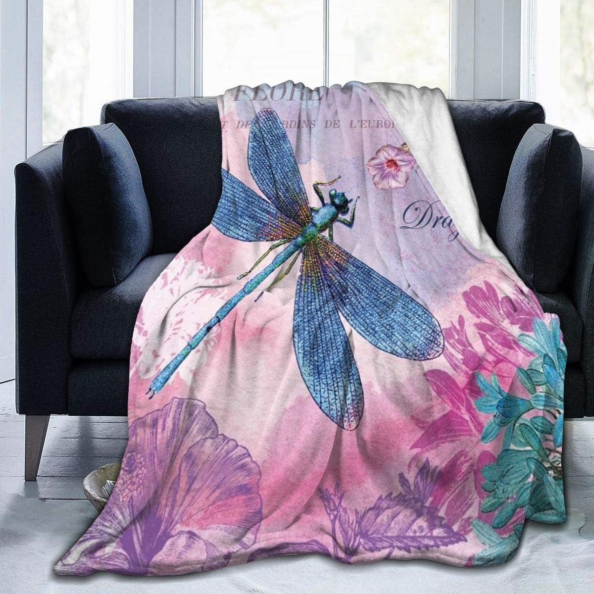 Purple Lilac Pink Butterfly Flannel Super Soft Fleece Blanket Brand New