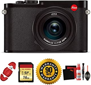 Leica Q (Typ 116) Digital Camera (Black) with Memory Card and Cleaning Kit Bundle (Renewed)