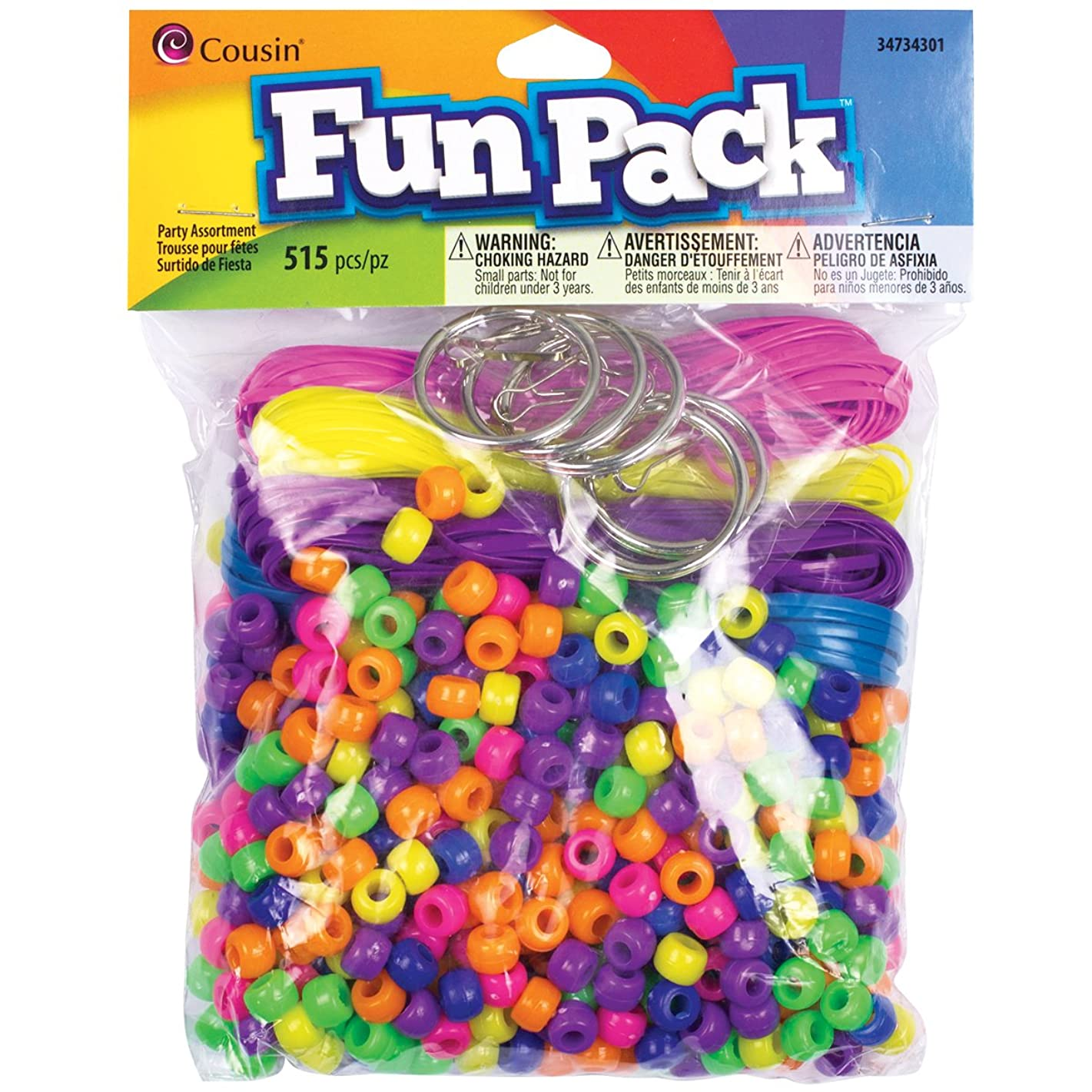 Cousin Fun Packs 515-Piece Neon Craft Lace with Party Pack