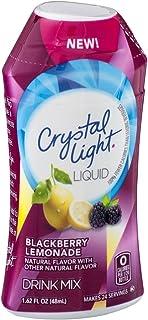 Crystal Light Liquid Drink Mix Blackberry Lemonade Flavor 1.62 Oz (Pack of 6)