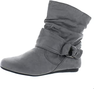 1cf9a0fe48ae Women s Fashion Calf Flat Heel Side Zipper Slouch Ankle Boots