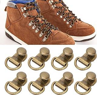 NCONCO 100 juegos de gancho para cordones con anilla en D, hebilla de latón para zapatos de cuero, herramienta de remache ...