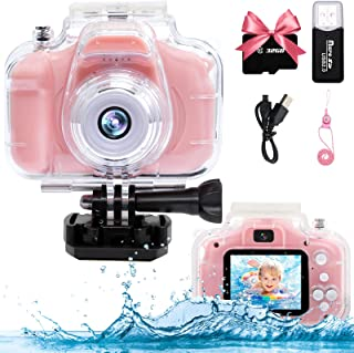 YTETCN Kids Underwater Camera with 32GB Memory Card, 1080P HD Digital Video Waterproof Camare for Kids 3-12 Year Old Boys Girls Birthday Gifts, Video Recording, Delay Capture, Playback