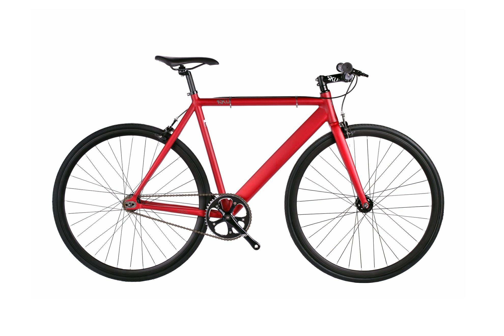 Bicicleta de pista urbana Fixie de 6 KU de aluminio con engranaje fijo de una sola velocidad: Amazon.es: Deportes y aire libre