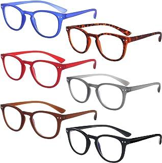 VIDEBLA 6-Pairs Blue Light Blocking Reading Glasses, Anti Glare/Eye Strain Readers Computer Eyeglasses Women/Men