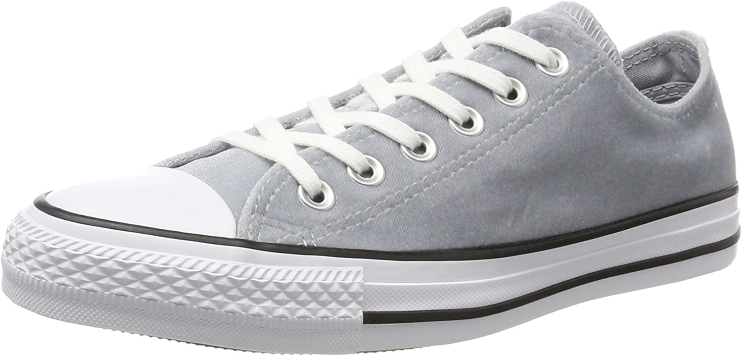 Converse Unisex Adults' CTAS Ox Wolf Grey White Trainers