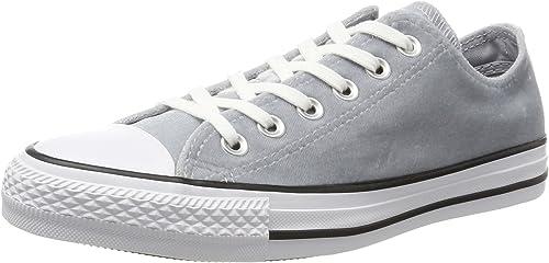 Converse CTAS Ox Wolf gris blanc, paniers Mixte Adulte