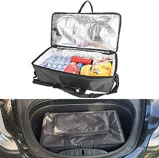 Tesla Model 3 Modell X Frunk Kühltasche, Front Trunk Isolierter Reißverschluss Kühler Organizer mit Netztaschen
