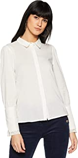 VERO MODA Women's Plain Regular Fit Shirt