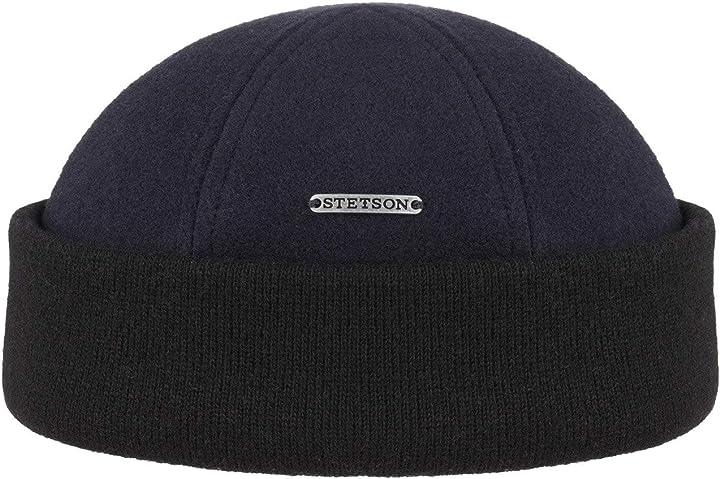Cappellino da portuale - berretto invernale da uomo - con fodera in pile  - stetson sparr 8810101