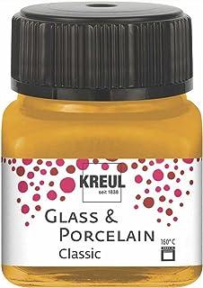 Kreul 16247 – Glass & Porcelain Classic métallisé doré, en verre de 20 ml, peinture brillante pour verre et porcelaine à b...