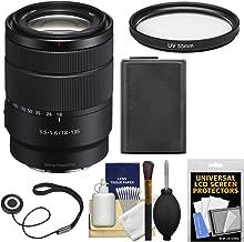 Sony Alpha E-Mount 18-135mm f/3.5-5.6 OSS Zoom Lens with Battery + Filter + Kit