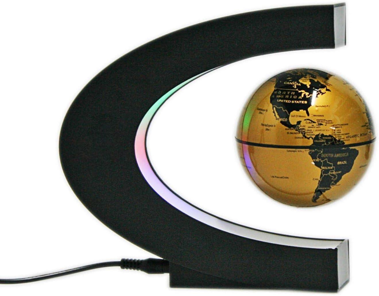 Senders Floating Globe with LED Lights Shape Levitati C New York Mall Magnetic Finally popular brand