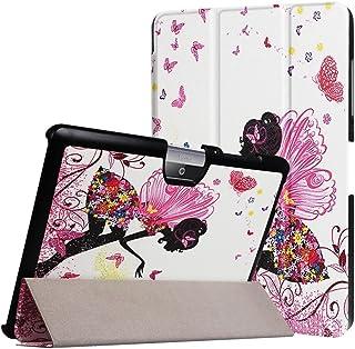 WiTa-Store Funda para Acer Iconia Tab One 10B3de A30A3de A4010.1Pulgadas Case Libro Cover Carcasa Rosa Mariposas