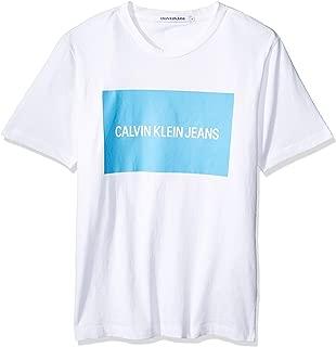 Calvin Klein Jeans Men's Box Logo T-Shirt, White