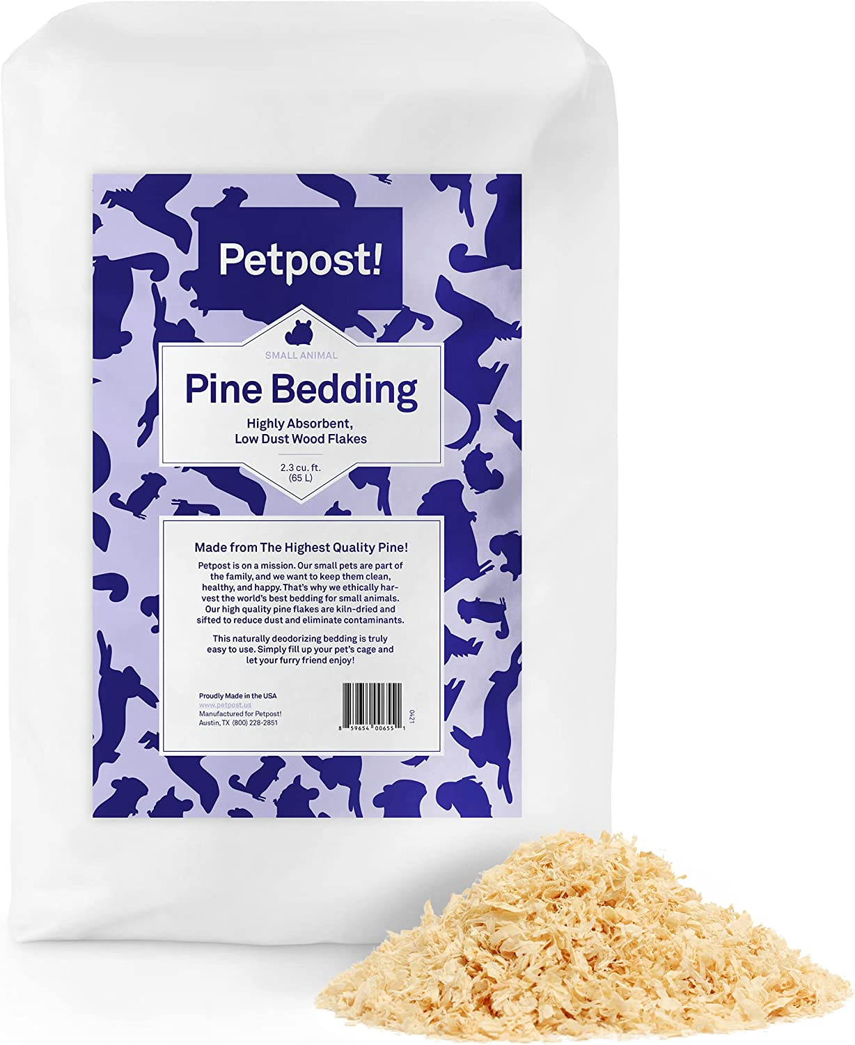 Buy Petpost   Pine Bedding for Small Animals   20 cu.ft. of Soft ...