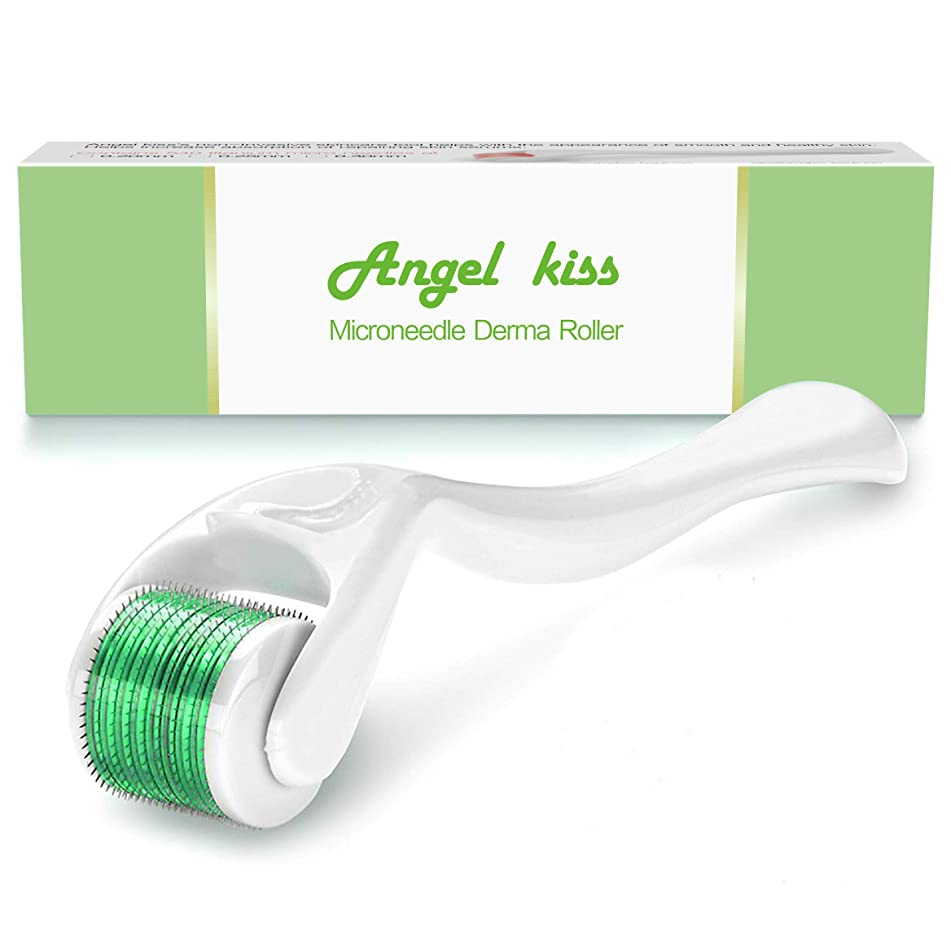 Derma Roller Microneedle for Face .5mm - Angel Kiss 540 Micro Needle Roller Microneedling Dermaroller