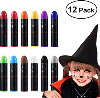 Halloween Face Makeup Kit, Halloween Face Paint Body Crayons for Kids Party Costume 12 Colors