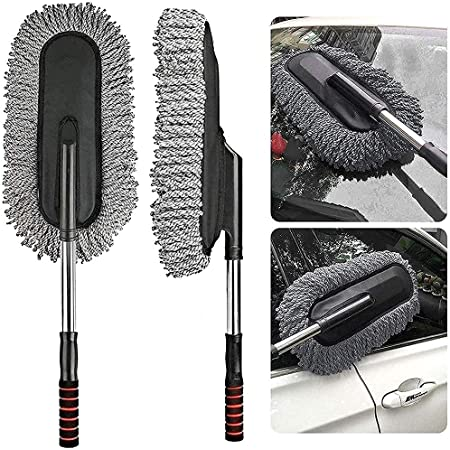 D&D Microfiber Flexible Dry / Wet Cleaning Duster Car Wash with Expandable Handle and Packing Bag for Home, Kitchen, Office
