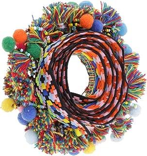 1 Yard Pompom Beads Fringe Trim Ribbon Sewing DIY Sewing Fabric Craft Handmade Decorative Jewelry - Multicolor, 60mm