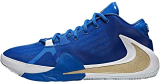 Zoom Freak 1 Basketball Shoes (7.5, Hyper Royal/Metallic Gold)