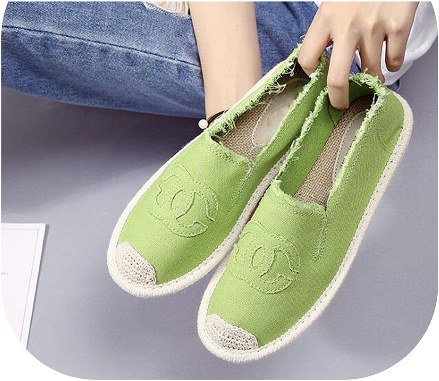 Plus Size 35-40 Women Sneakers Comfortable Casual Loafers shoes Woman Slip On Flats Hemp Candy