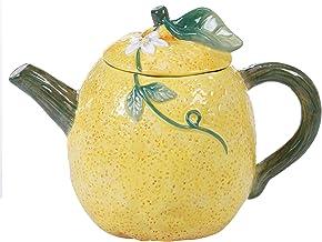 """Certified International Citron 3-D Lemon 24 oz. Teapot, 8"""" x 5"""" x 5.75"""", Multicolored"""