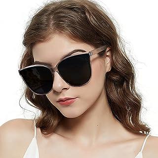 نظارات شمسية نسائية من LVIOE Cat Eyes للنساء، نظارات عصرية كبيرة الحجم ذات تصميم عتيق للقيادة والصيد - حماية من الأشعة فوق...